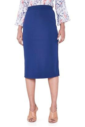 AND Womens Solid Pencil Skirt - 203680556_9212