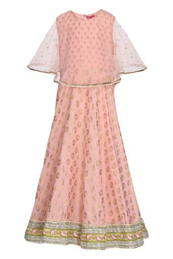 BIBA GIRLS -  Baby Pink Indianwear - Main