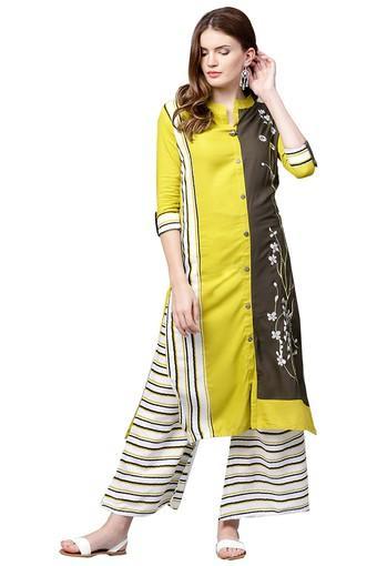 ISHIN -  GreenEthnic Dresses - Main