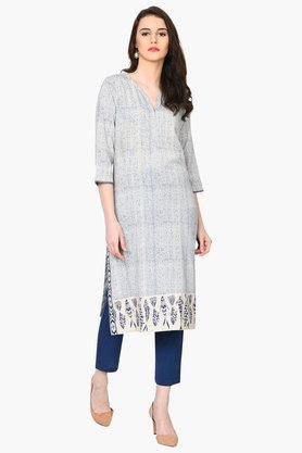RANGRITI Womens Straight Cotton Flex Kurta