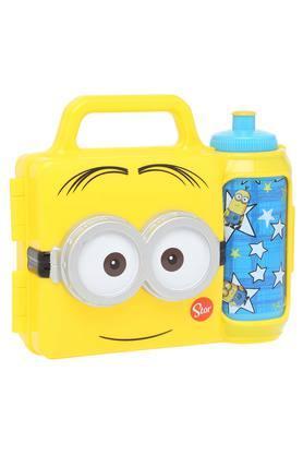 Kids Minion Print Lunch Box and Water Bottle Combo Set