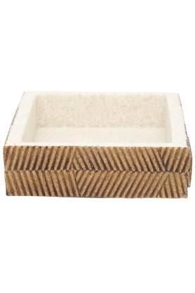 Alvina Stone Finish Textured Rectangular Soap Dish