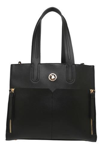 Buy U.S. POLO ASSN. Womens Zipper Closure Satchel Handbag  eec4f84018be8