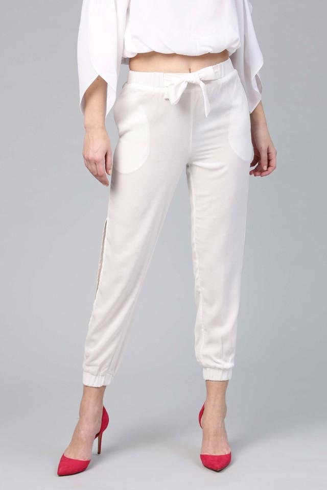 Womens Slim Fit Solid Joggers