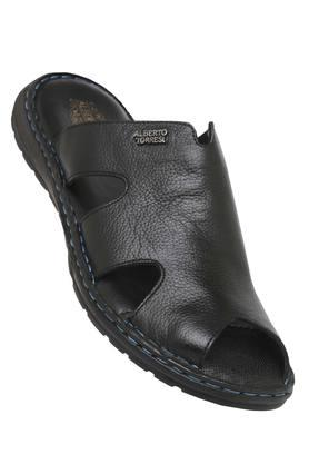 ALBERTO TORRESI Mens Leather Casual Wear Slippers