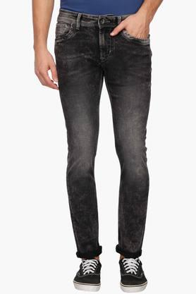 FLYING MACHINEMens Slim Fit Stone Wash Jeans ( Micheal Fit)