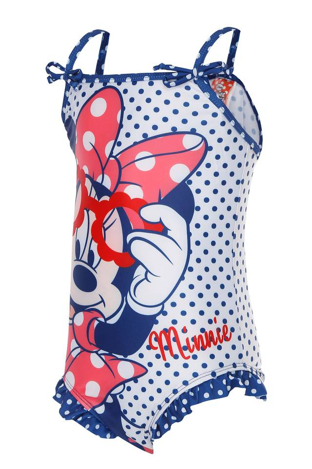 Girls Spaghetti Neck Disney Character Printed Swim Trunks