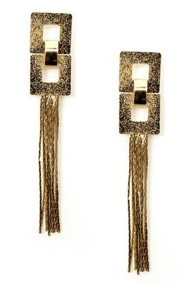Womens Gold Plated Metal Earrings