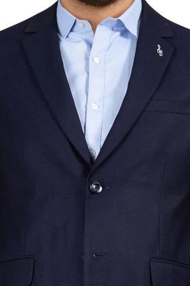 Mens Notched Lapel Textured 2 Piece Suit