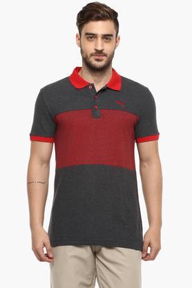 PUMAMens Colour Block Polo T-Shirt