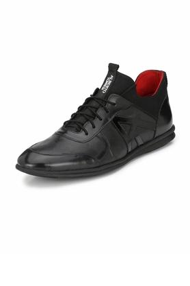 ALBERTO TORRESI Mens Leather Lace Up Casual Shoes