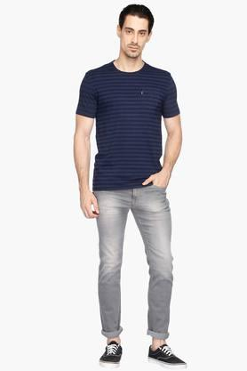Mens 5 Pocket Skinny Fit Heavy Wash Jeans (Regallo Fit)