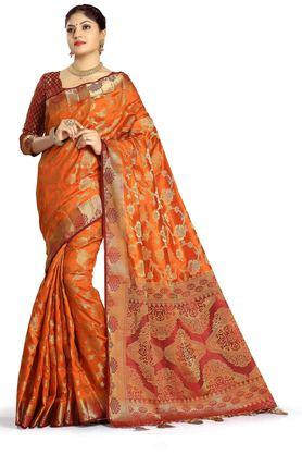 DEMARCA Womens Art Silk Tussar Designer Saree - 204100141_9508