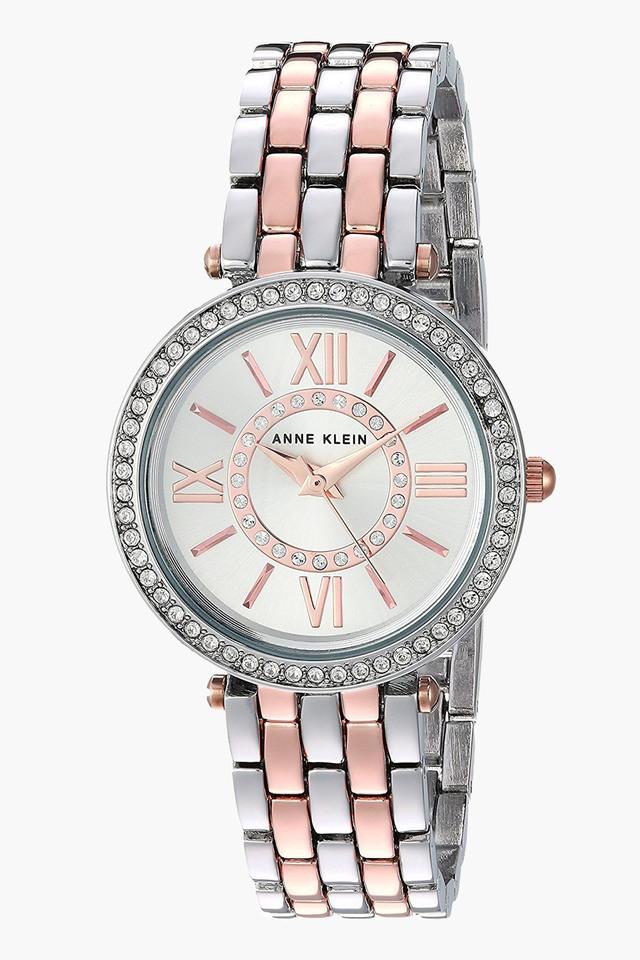 Womens Analogue Metallic Two Tone Watch - AK2967SVRT