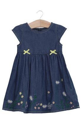 Girls Round Neck Assorted Dress