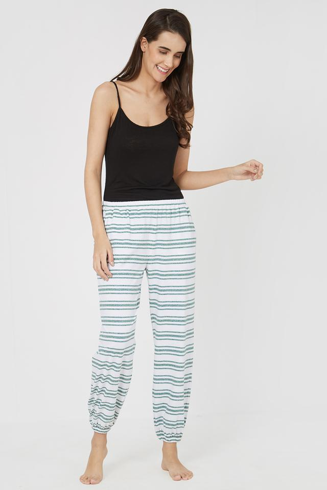 Womens Classic Fit Striped Lounge Pants