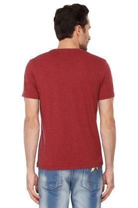 Mens Regular Fit Round Neck Slub T-Shirt