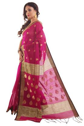 Women Designer Embelished Zari Saree