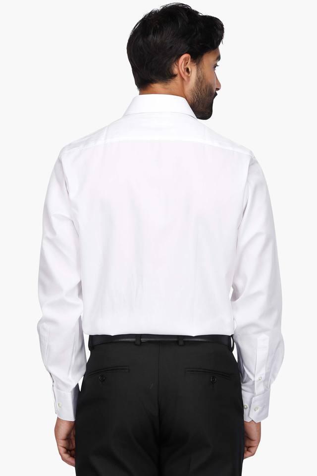 Mens Regular Collar Permapress Solid Shirt