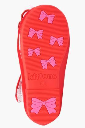 Girls Party Wear Velcro Closure Ballerinas