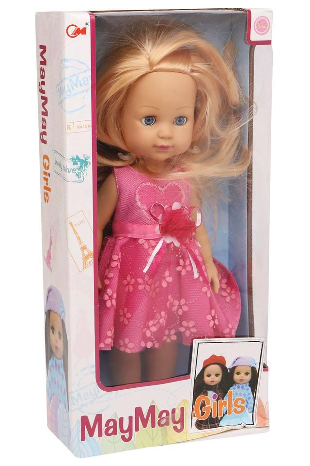 Girls Doll with Pick Frock