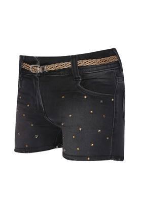 Girls 5 Pocket Mild Wash Shorts