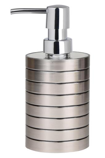 Round Metallic Finish Soap Dispenser