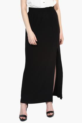 LOVE GENRATION Womens Solid Full Length Skirt