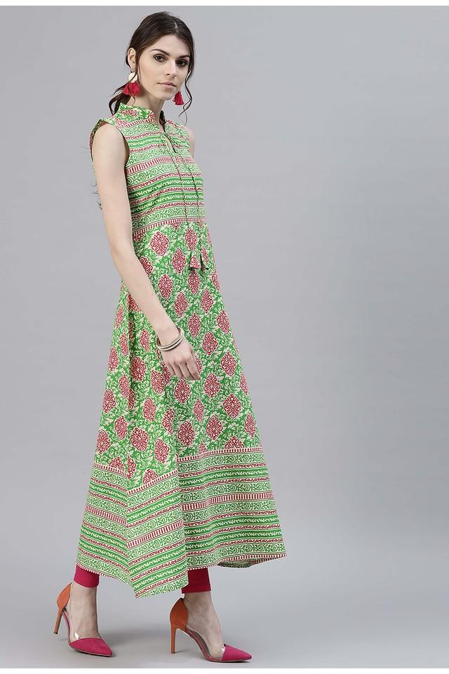 Women Cotton Printed Aline Kurta