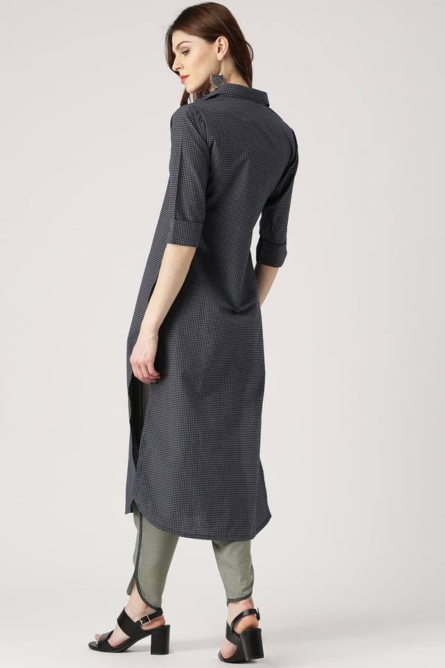 8aa9a08bc Buy LIBAS Womens Solid Straight Kurta With Printed Palazzo ...