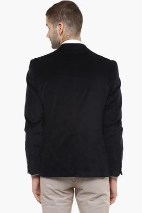 Mens Notched Lapel Solid Blazer
