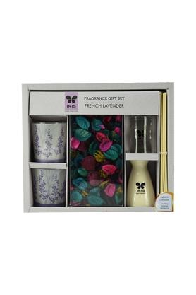 IRIS French Lavender Reed Diffuser Set With Votive Candles
