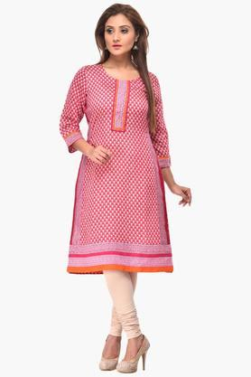 RANGRITI Womens Straight Cotton Kurta