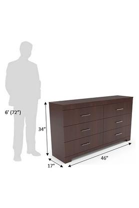 Brown Thjk Chest of Drawer