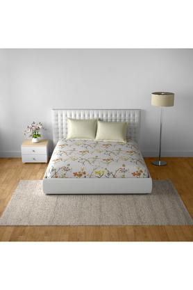 SPACESCotton Printed Double Bedsheet With 2 Pillow Covers - 203257360_9900