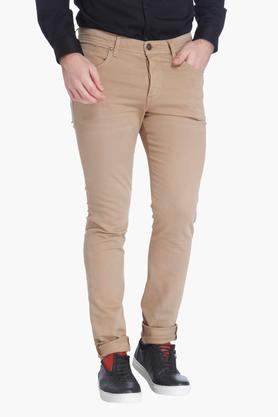 JACK AND JONES Mens Slim Fit Solid Chinos