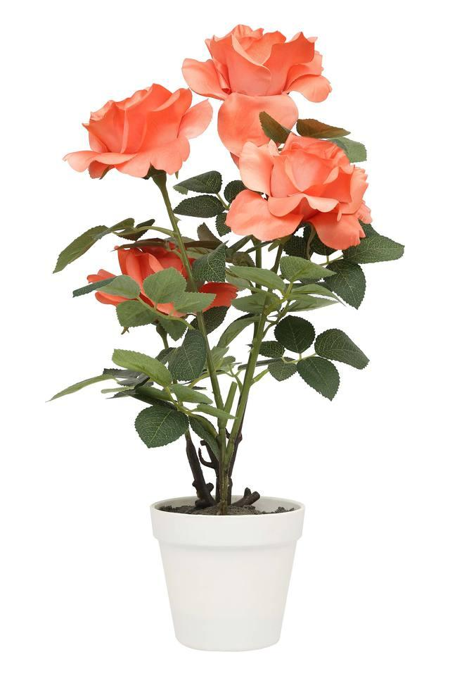 Peach Rose Potted Artificial Flower