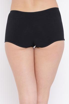Womens High Waist Solid Teen Boy Shorts