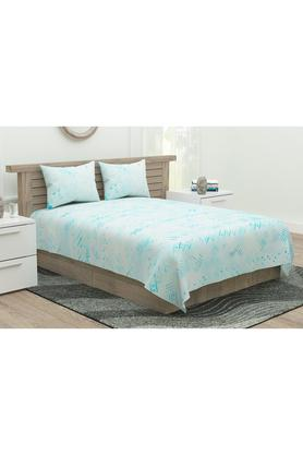 Printed Prime Collection Double Bed Sheet with Pillow Covers