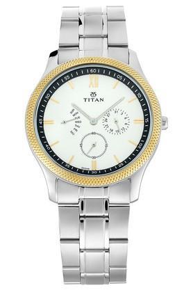 TITANMens Classique Retrogrades White Dial Multifunction Watch 1768BM01
