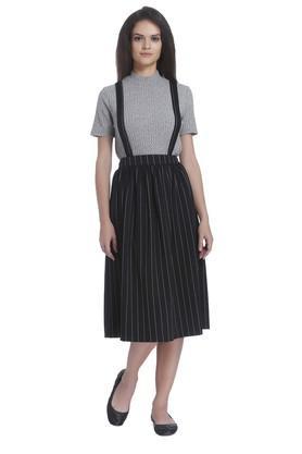 ONLYWomens Striped Knee Length Skirt