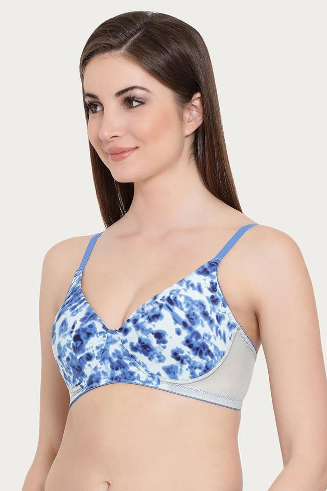Womens Printed Padded Wired Push Up Bra