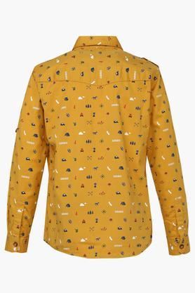 Boys 2 Pocket Printed Shirt