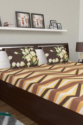Vienna Printed Double Bed Sheet with 2 Pillow Covers