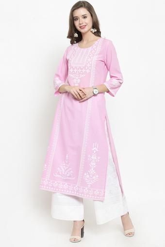 VARANGA -  Baby PinkSalwar & Churidar Suits - Main