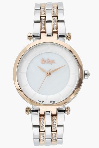 Womens Analogue White Dial Metallic Watch - LC06589520
