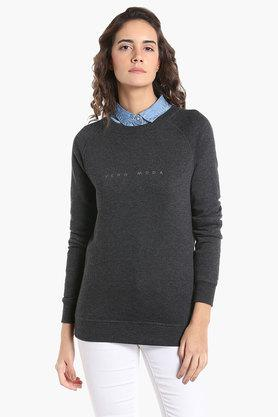 VERO MODA Womens Round Neck Printed Sweatshirt - 202988406_9217