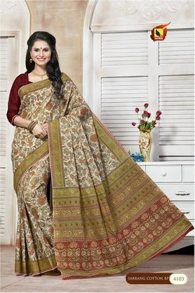 ASHIKA Womens Printed Saree With Blouse Piece - 204577009_7086