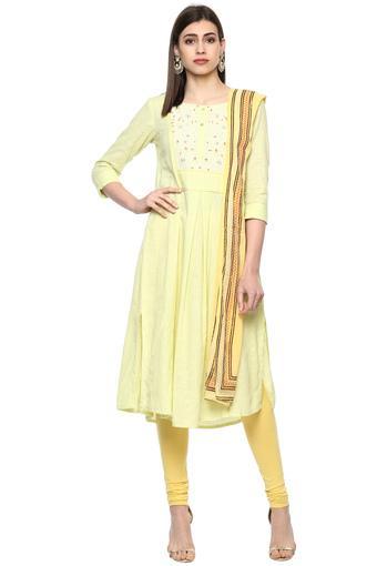 IMARA -  GreenSalwar & Churidar Suits - Main