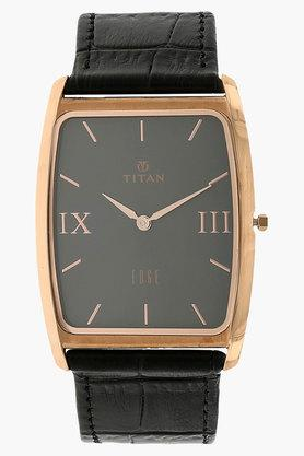 TITANMens Grey Dial Leather Watch - NH1596WL02